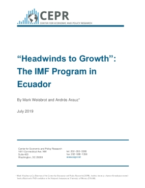 Headwinds to Growth: The IMF Program in Ecuador
